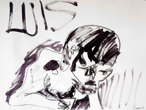 My friend Luas look like Igor while he is painting