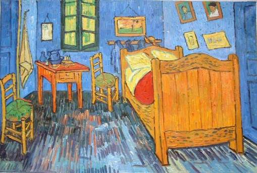 Vincent Van Gogh painting his room wainting for Paul Gauguin.