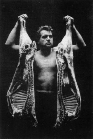 Francis Bacon getting horny in a butcher's shop.