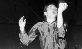 Ian Curtis being crossed by the beat.
