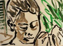My sister Mina, reminds me to Gauguin black women.